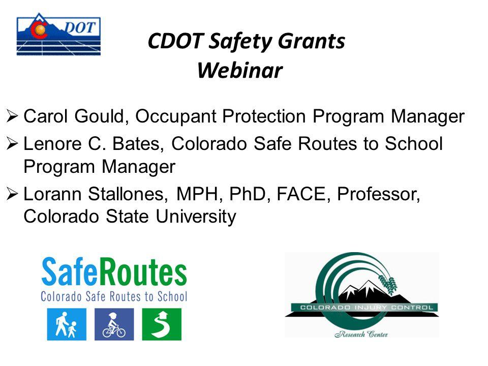 Office of Transportation Safety (OTS) Traffic Safety Programs PEOPLE AND PROGRAMS SAVING LIVES