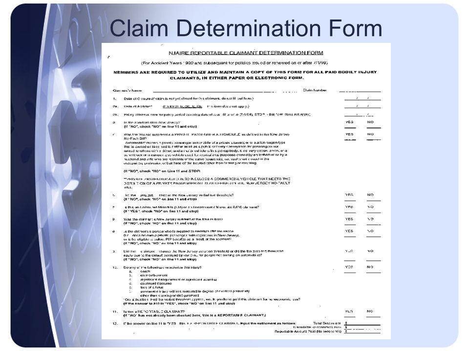 Claim Determination Form