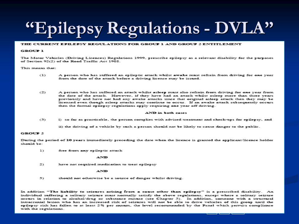 """Epilepsy Regulations - DVLA"""