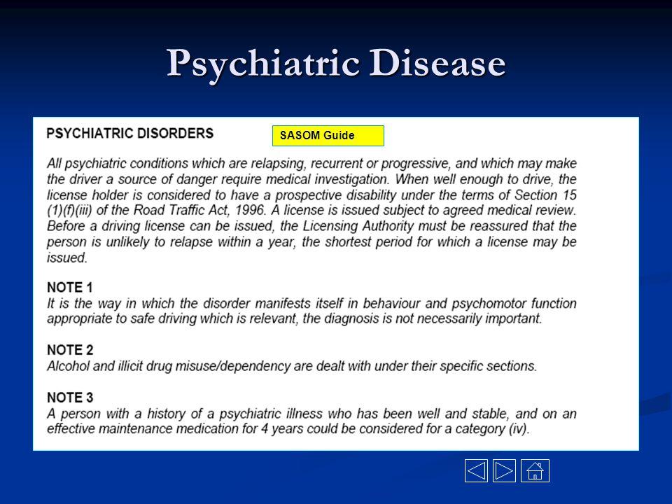 Psychiatric Disease SASOM Guide
