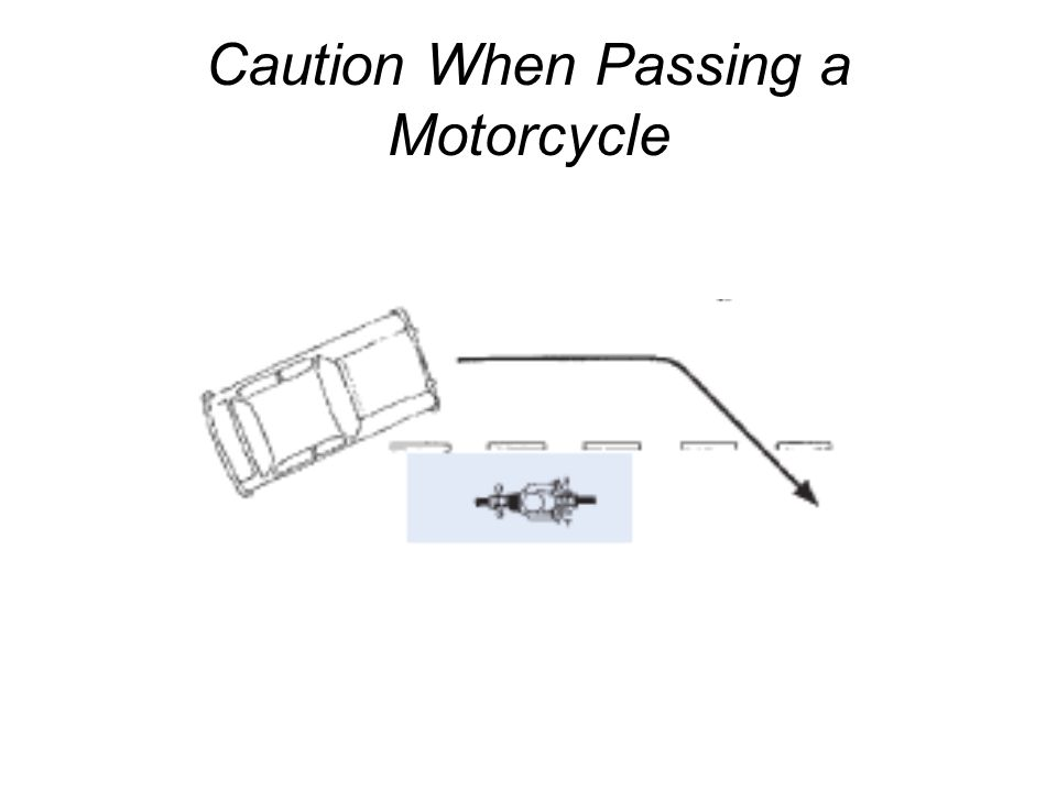 Caution When Passing a Motorcycle