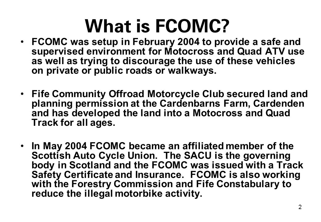 2 What is FCOMC.