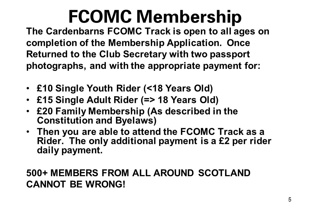 6 FCOMC Location FCOMC is located in a field between Cardenbarns Farm and Torbain Forest.