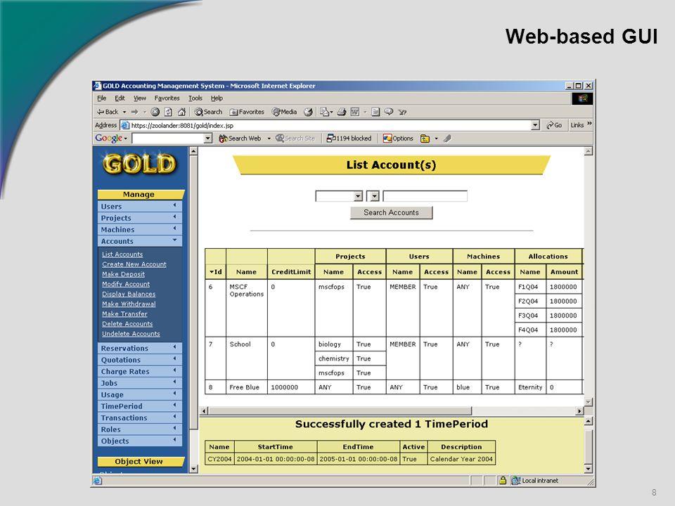 8 Web-based GUI