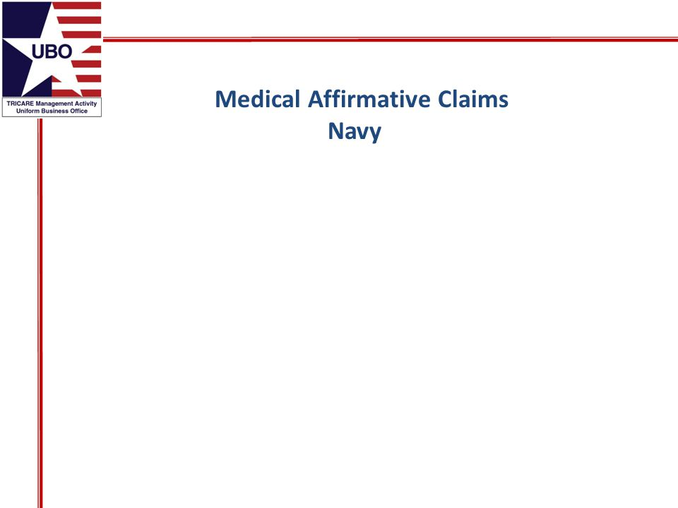 Medical Affirmative Claims Navy