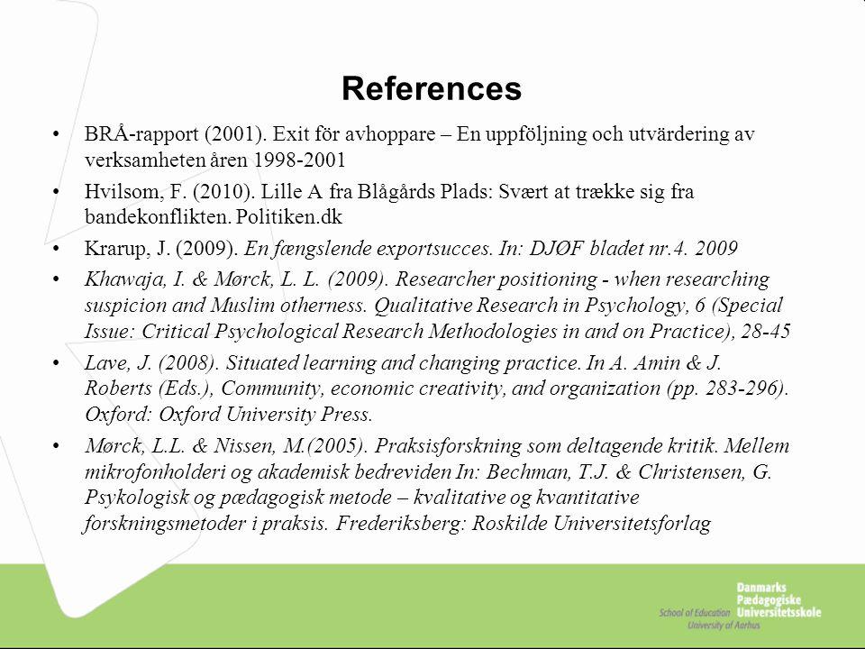 References BRÅ-rapport (2001).