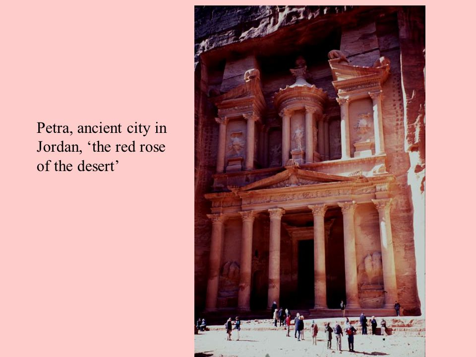 Petra, ancient city in Jordan, 'the red rose of the desert'