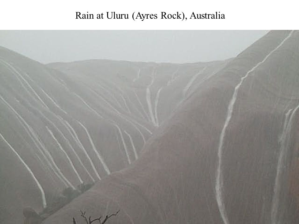 Rain at Uluru (Ayres Rock), Australia