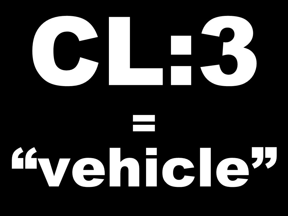CL:3 = vehicle