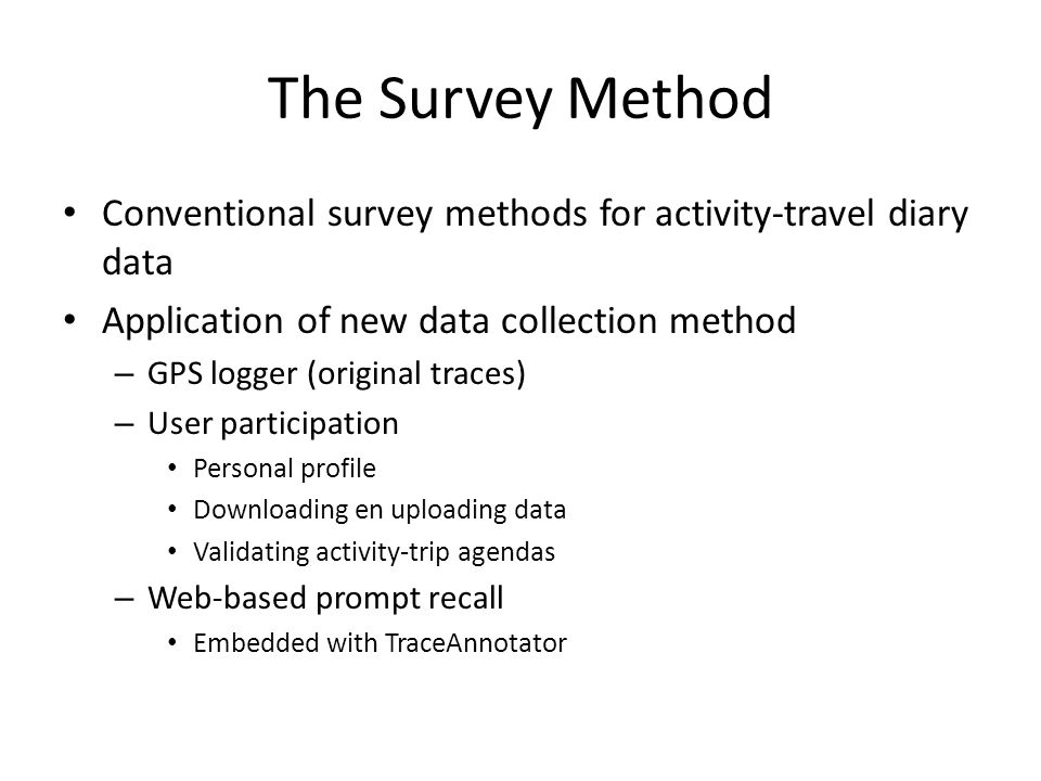 """Framework 4/19/2015Feng&Timmermans3 Transportation mode Activity episode Personal Data GPS data Geographical Data it appears more than reasonable to expect that a traveler""""s decision to acquire travel information is to some extent dependent on the availability of a telework-option, and vice versa."""