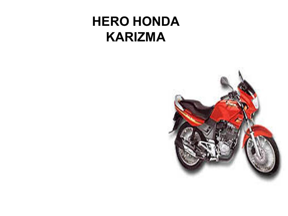 HERO HONDA KARIZMA