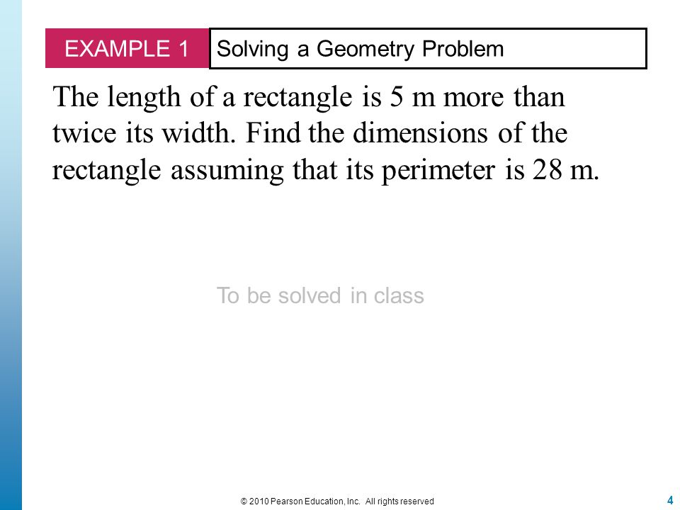 EXAMPLE 2 Page 105 Problem # 26.5 © 2010 Pearson Education, Inc.