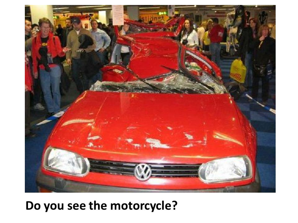 Do you see the motorcycle?