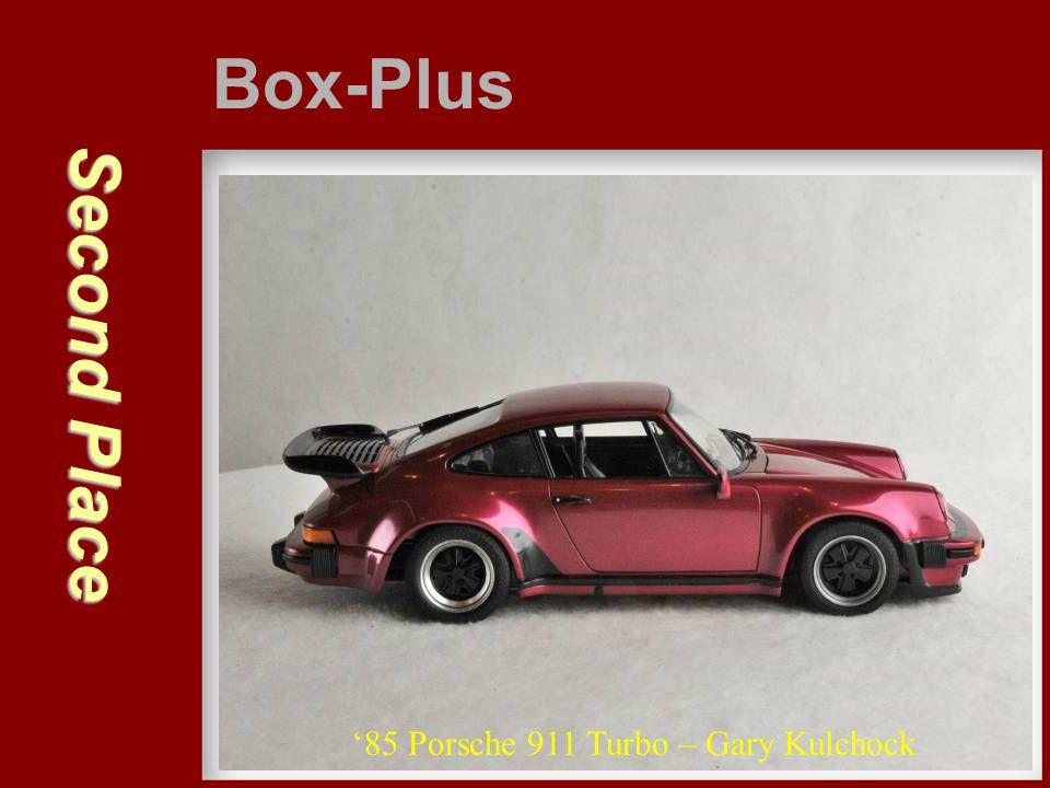 Second Place Box-Plus '85 Porsche 911 Turbo – Gary Kulchock