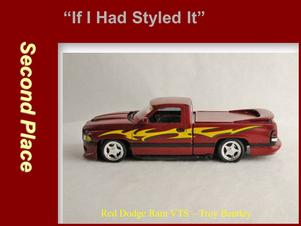 """Second Place """"If I Had Styled It"""" Red Dodge Ram VTS – Troy Bentley"""