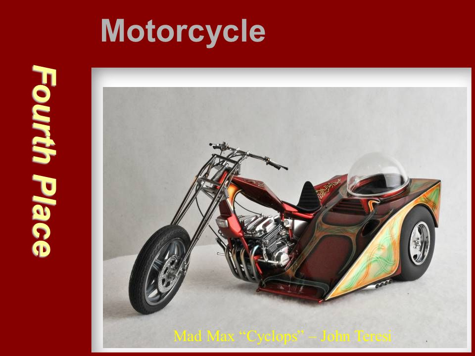 """Fourth Place Motorcycle Mad Max """"Cyclops"""" – John Teresi"""