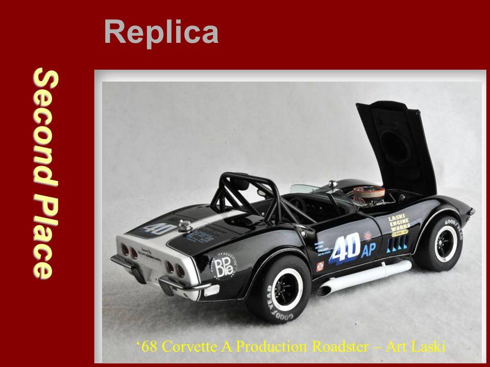 Second Place Replica '68 Corvette A Production Roadster – Art Laski