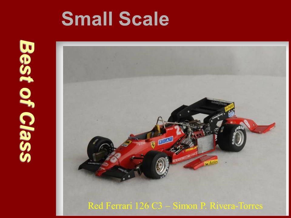 Best of Class Small Scale Red Ferrari 126 C3 – Simon P. Rivera-Torres
