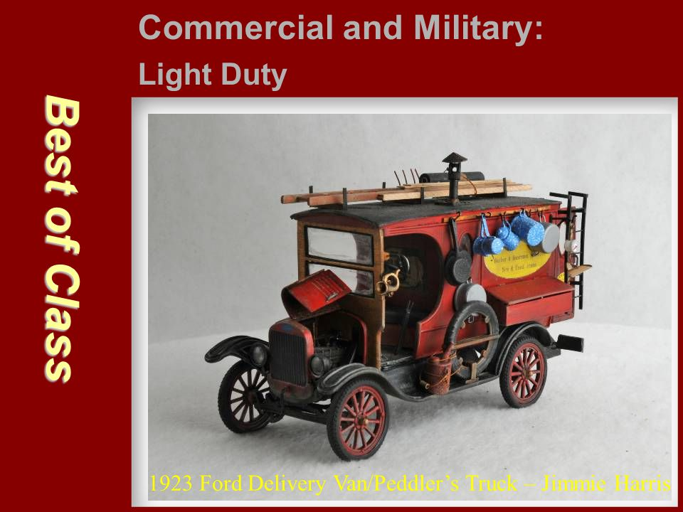 Best of Class Commercial and Military: Light Duty 1923 Ford Delivery Van/Peddler's Truck – Jimmie Harris