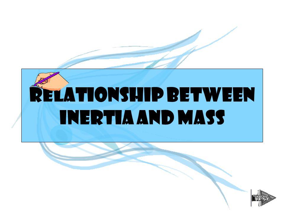 RELATIONSHIP BETWEEN INERTIA AND MASS
