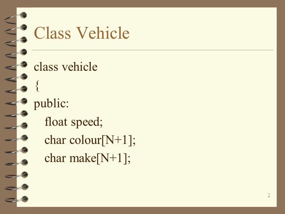 13 Class Vehicle class TwoWheeledEPV:public EnginePoweredVehicle { };