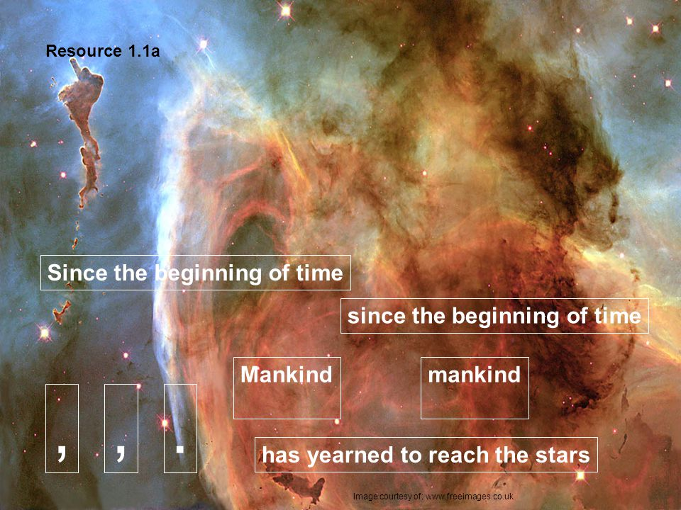 Since the beginning of time since the beginning of time Mankindmankind has yearned to reach the stars,,.