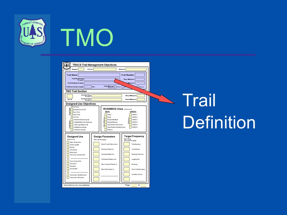 TMO Trail Definition