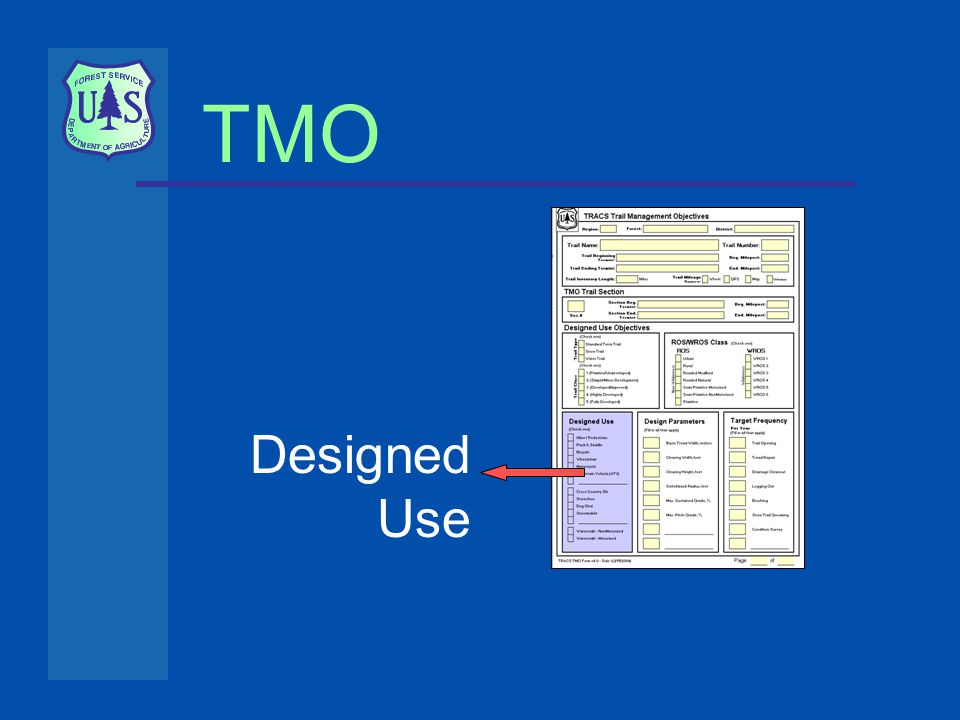 TMO Designed Use