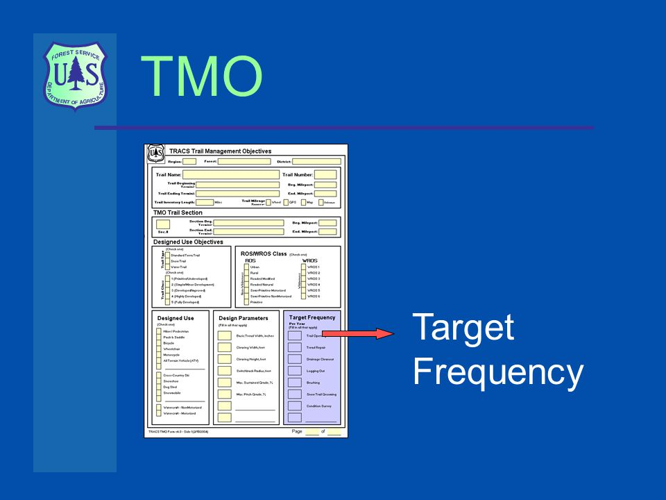 TMO Target Frequency