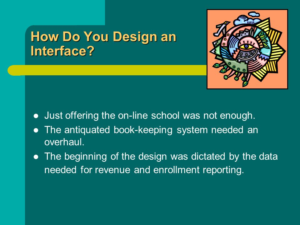 How Do You Design an Interface. Just offering the on-line school was not enough.
