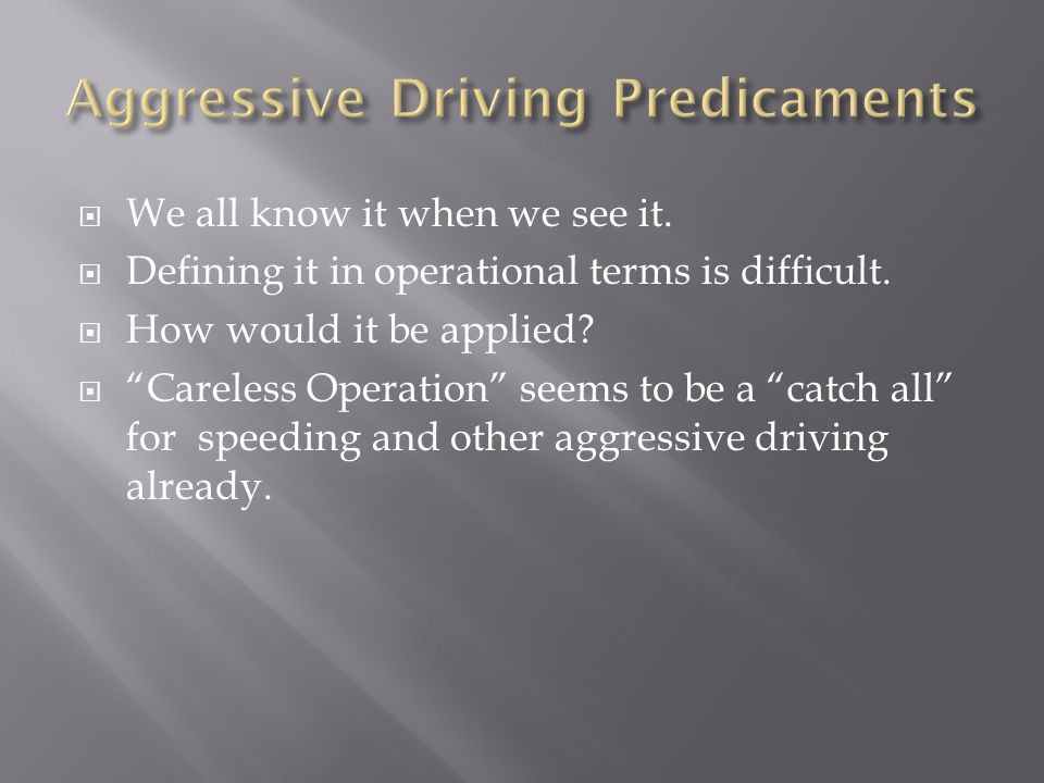  We all know it when we see it.  Defining it in operational terms is difficult.