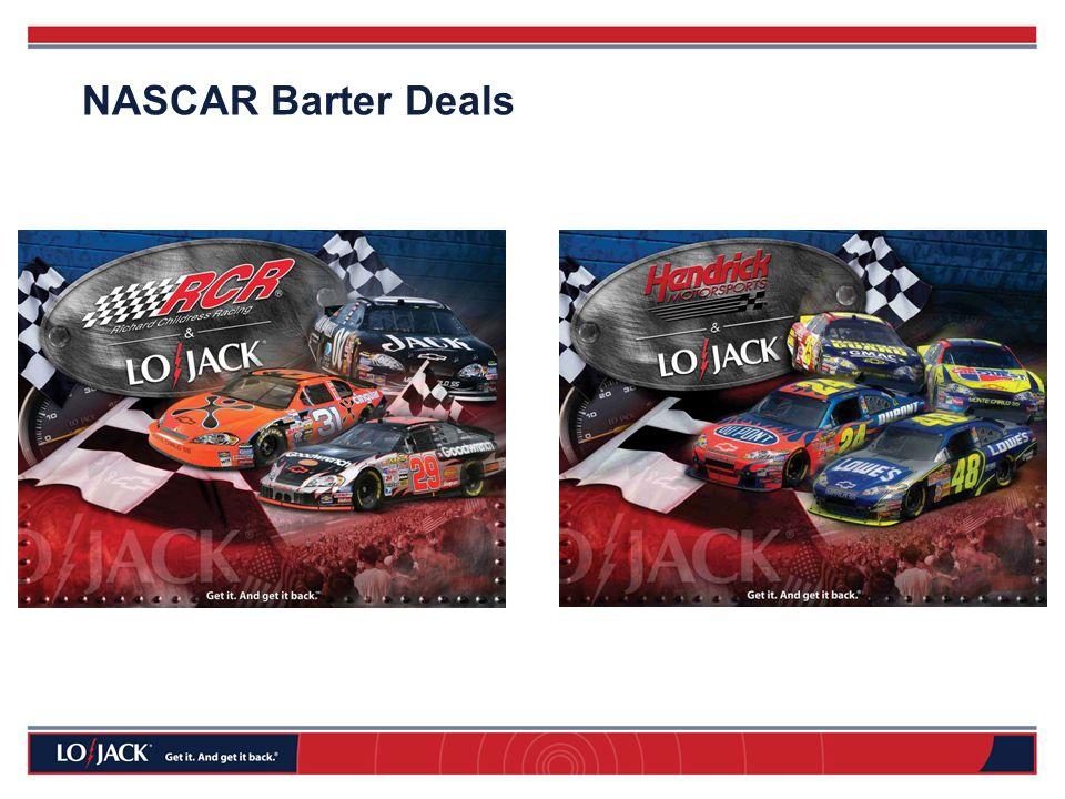 NASCAR Barter Deals