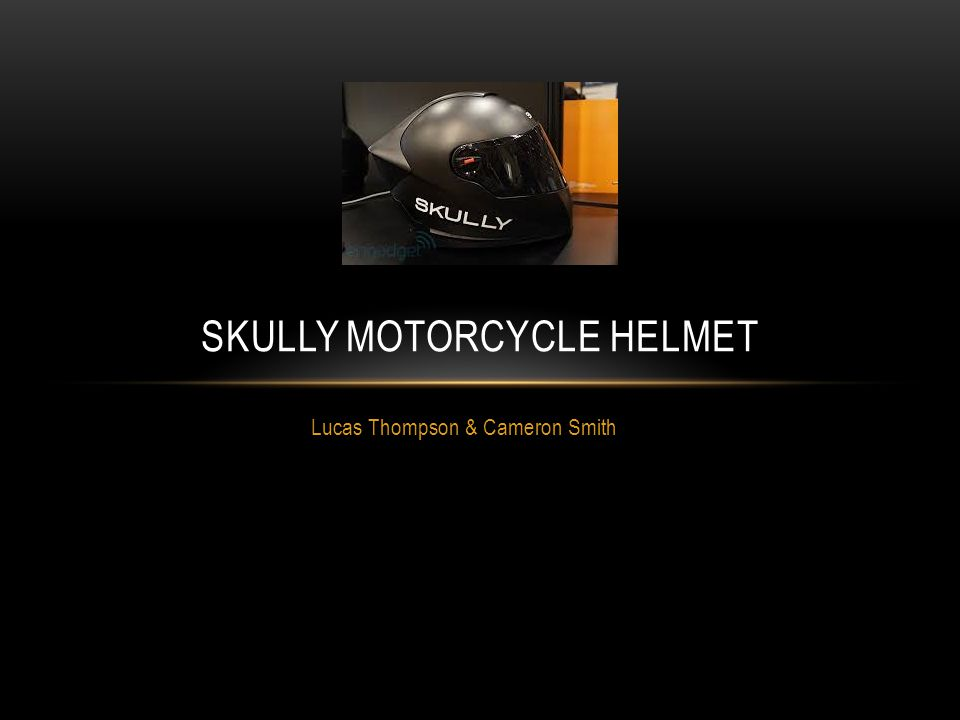 Lucas Thompson & Cameron Smith SKULLY MOTORCYCLE HELMET