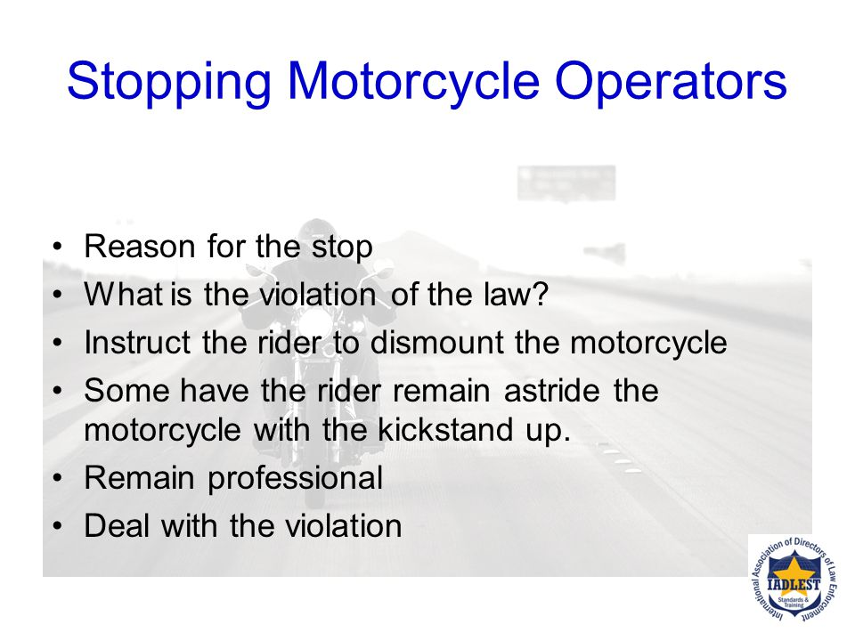 STRATEGIES FOR STOPPING What's your department policy on traffic stops?