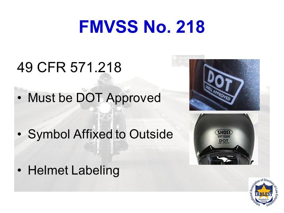 FMVSS No.218 The FMVSS No.
