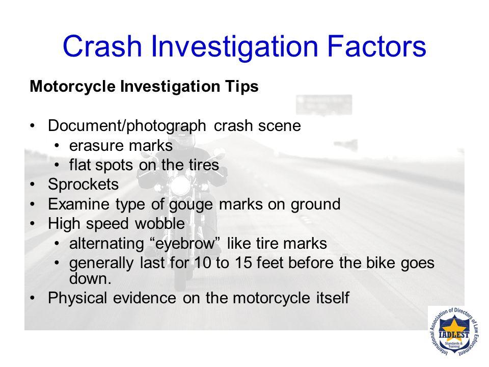 "Crash Investigation Factors Handling & maneuverability unique to M/C Counter Steering - Understanding the concept of ""counter steering"". Turns/Corneri"