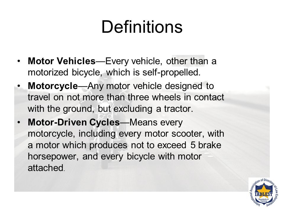 Motorcycle Moving Violations Motorcycle operators must obey the same rules of the road as all other drivers (with a few exceptions) Enforce these as you would any other violation KSA 8-1593: Rights and duties of persons riding motorcycles.