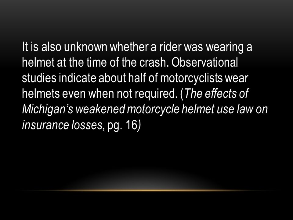 It is also unknown whether a rider was wearing a helmet at the time of the crash.