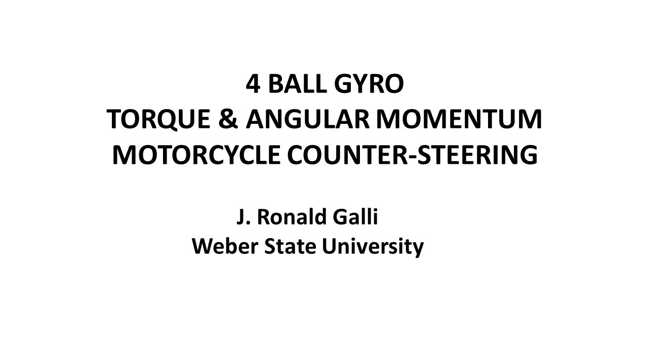 4 BALL GYRO – SIMPLE EXPLANATION The masses behave as a spinning wheel with initial motion as shown, in the xy plane.