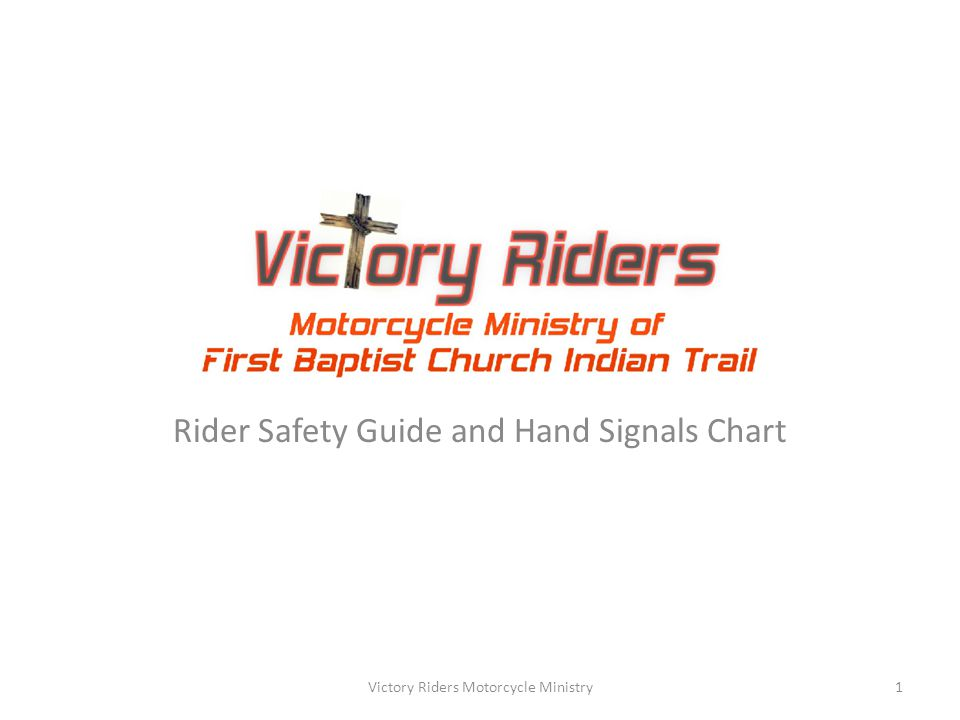 INDEX What to expect on VRMM Group Rides….....Page 3 Common Riding Terms…………………….………...Page 6 Common Group Riding Maneuvers……..…..…Page 8 The Rubber-Band Effect……………………………..Page 12 Formation Riding Distance Guideline…………Page 14 Motorcycle Hand Signals…………….……………..Page 15 Victory Riders Motorcycle Ministry2