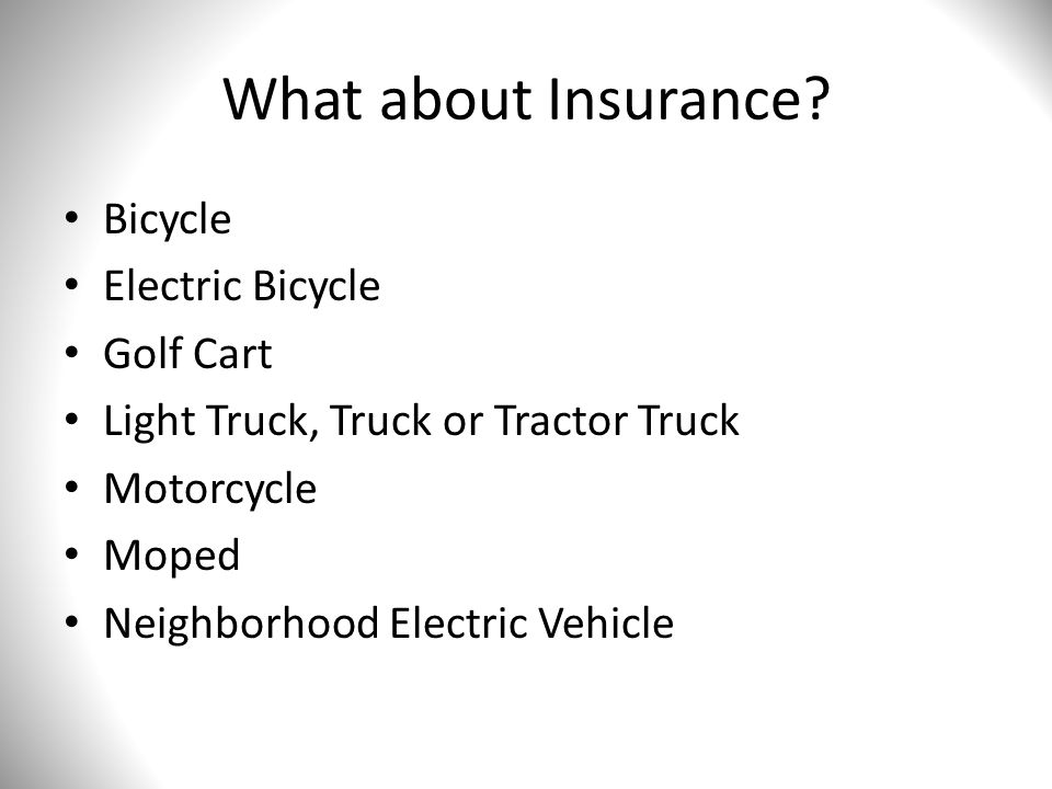 What about Insurance.