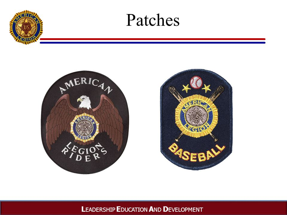 L EADERSHIP E DUCATION A ND D EVELOPMENT Patches