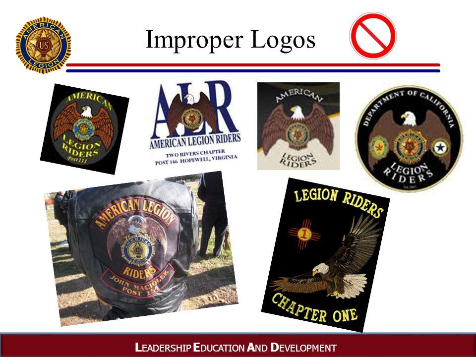 L EADERSHIP E DUCATION A ND D EVELOPMENT Improper Logos