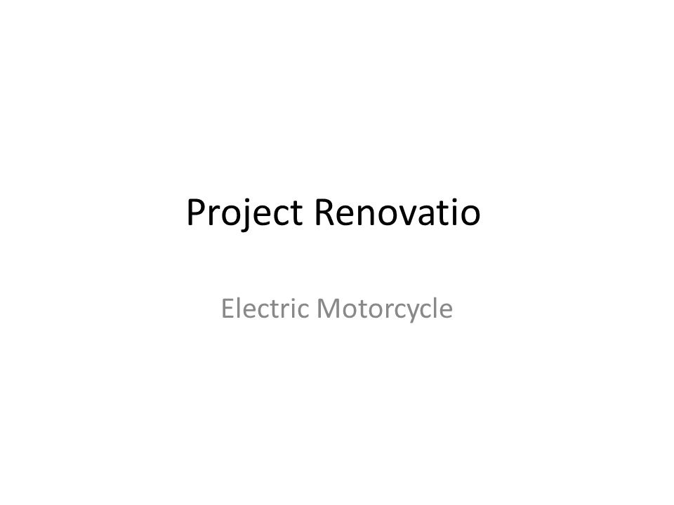 The Project Convert Honda CBR600F2 to a Fully Electric Motorcycle