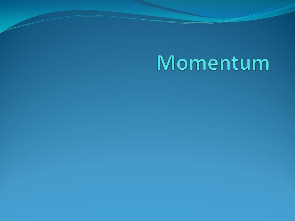 Learning Tweet Units of momentum (change in momentum) = kgm/s Change in momentum depends on the size of the force and the time it acts Change in momentum = resultant force (N) x time (s)
