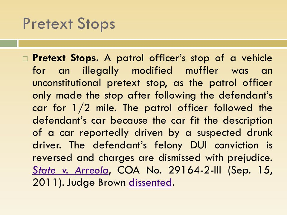 Pretext Stops  Pretext Stops.