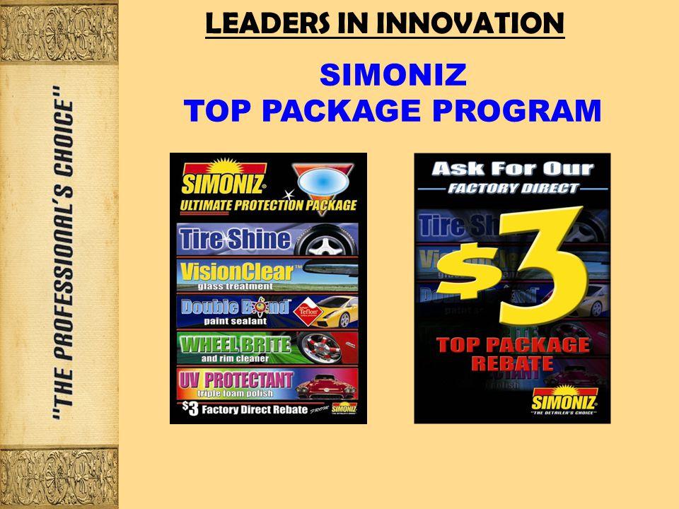 LEADERS IN INNOVATION SIMONIZ TOP PACKAGE PROGRAM