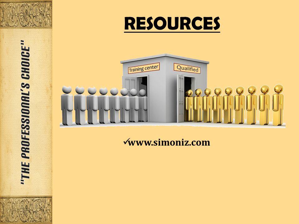 RESOURCES www.simoniz.com