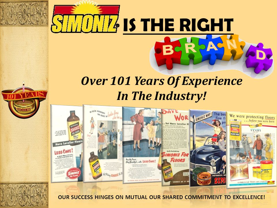 IS THE RIGHT Over 101 Years Of Experience In The Industry.