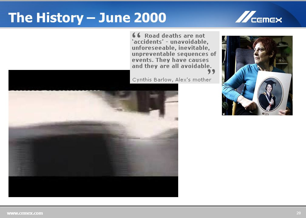 20 www.cemex.com The History – June 2000